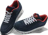 Зимние кроссовки Nike Air Max 90 VT Tweed And Fur Blue С МЕХОМ от магазина tehnolyuks.prom.ua 099-4196944