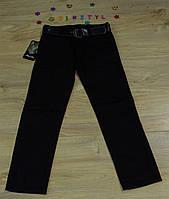 Котонові під класику чорні штани для хлопчика на ріст 116-164 см