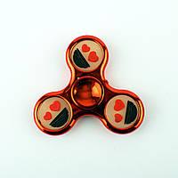 Спиннер пластиковый красный с силиконовыми вставками Spinner plast 071-R