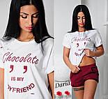 Женский стильный костюм: шорты и футболка (2 цвета), фото 3