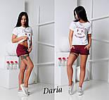 Женский стильный костюм: шорты и футболка (2 цвета), фото 4
