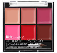 Палетка помад Ultimate Lips To Go – 6 Color Lipstick Palette BH Cosmetics. Оригинал