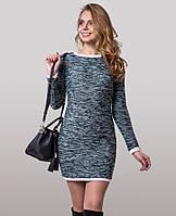 """Платье из эффектного меланжевого трикотажа """"букле"""""""