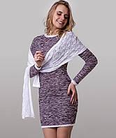 Стильное платье с шарфом в комплекте