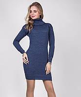 Изумительное теплое вязаное платье