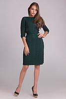 Вязаное платье на натуральной трикотажной подкладке