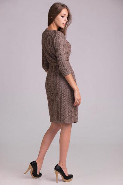 Красивое вязаное платье под пояс