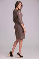 Красивое вязаное платье под пояс, фото 1