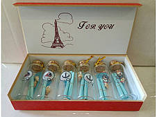 Бутылочки с пожеланиями  6шт 001-7