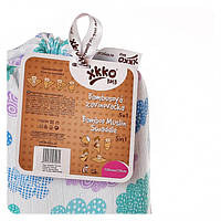Пеленки бамбуковые  муслиновые XKKO 120х120 двухслойная 1 шт. Разноцветные для мальчика, фото 1