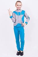 Детский спортивный костюм для девочек, размер 122-128-134-140-146-152 см, двунитка