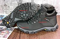 Мужские зимние кроссовки ECCO 100% кожаная обувь. ЕККО