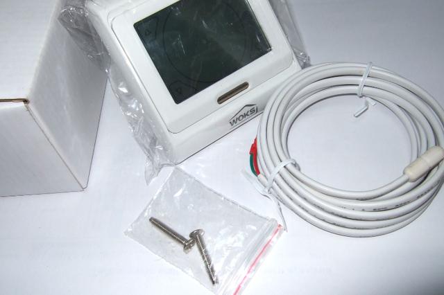 Программируемый сенсорный термостат для теплого пола Woks M 9.716
