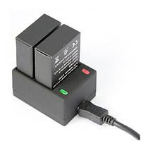 Набор: Зарядное устройство + два аккумулятора для GoPro HERO3/3+