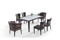 Комплект Обеденный стол + 2 кресла + 4 стула