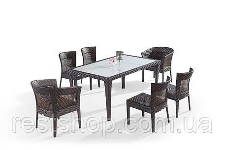 Комплект Обеденный стол + 2 кресла + 4 стула, фото 2