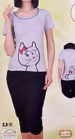 Комплект женский футболка+капри 82374