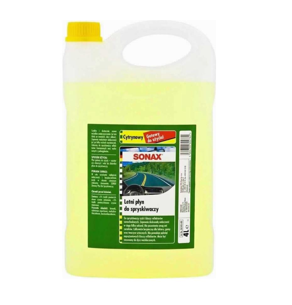 Летняя жидкость для омывателя SONAX 4л лимон 260405