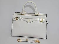 Сумка женская классическая деловая белый цвет