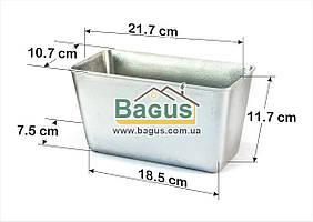 Форма алюминиевая для выпечки хлеба 0,9л БИОЛ (Л-10)