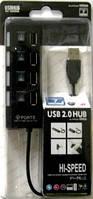USB HUB на 4 порта черный