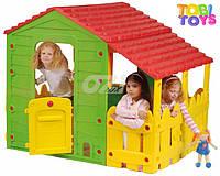 Домик пластиковый для детей. Детский домик Farm House. Бесплатная доставка
