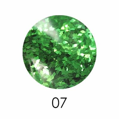 Ромбики для декора 2 мм. зеленый 1,5 г. № 7
