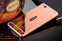 ZTE Nubia Z9 Mini металлический чехол бампер розовое золото
