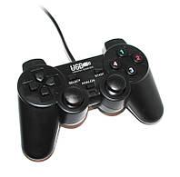 Геймпад GP U-706 Black, USB, вибрация, для PC, аналог Double Shock 2