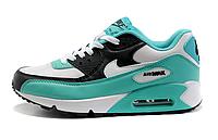Женские кроссовки Nike Air Max 90 бело-бирюзовые