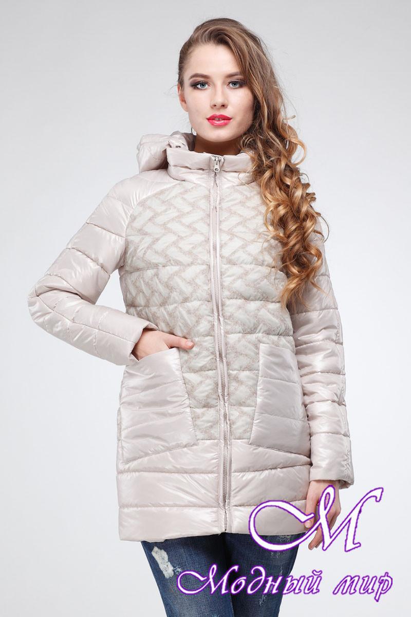 Женская стильная осенняя куртка (р. 42-54) арт. Анджел