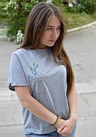 Футболка женская «Ветка» с вышивкой