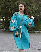 Платье женское «Барвінок» лен