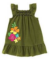 Трикотажное платье для девочки. 3,4 года