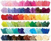 Бумага для изготовления цветов и помпонов цветная тишью