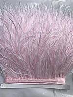 Перьевая тесьма из перьев страуса, темный бледно-розовый .Цена за 0,5м