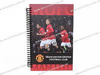 Блокнот карт. обложка, спир., 80л., А5- Manchester Ut /1/25/50/(MU14-221K)