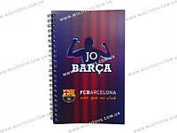 Блокнот пласт. обложка, спир., 80л., А5- Barcelona /1/25/50/(BC14-225K)