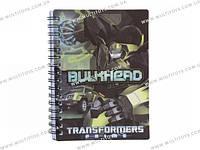 Блокнот пласт. обложка, спир., 80л., А6 Transformers /1/50/100/(TF13-226K)