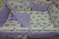 Детское постельное белье от ТМ Bonna сиреневые совы
