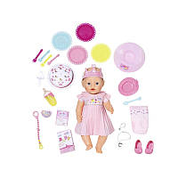 Интерактивный пупс 43 см День Рождения Baby Born Zapf Creation 824054