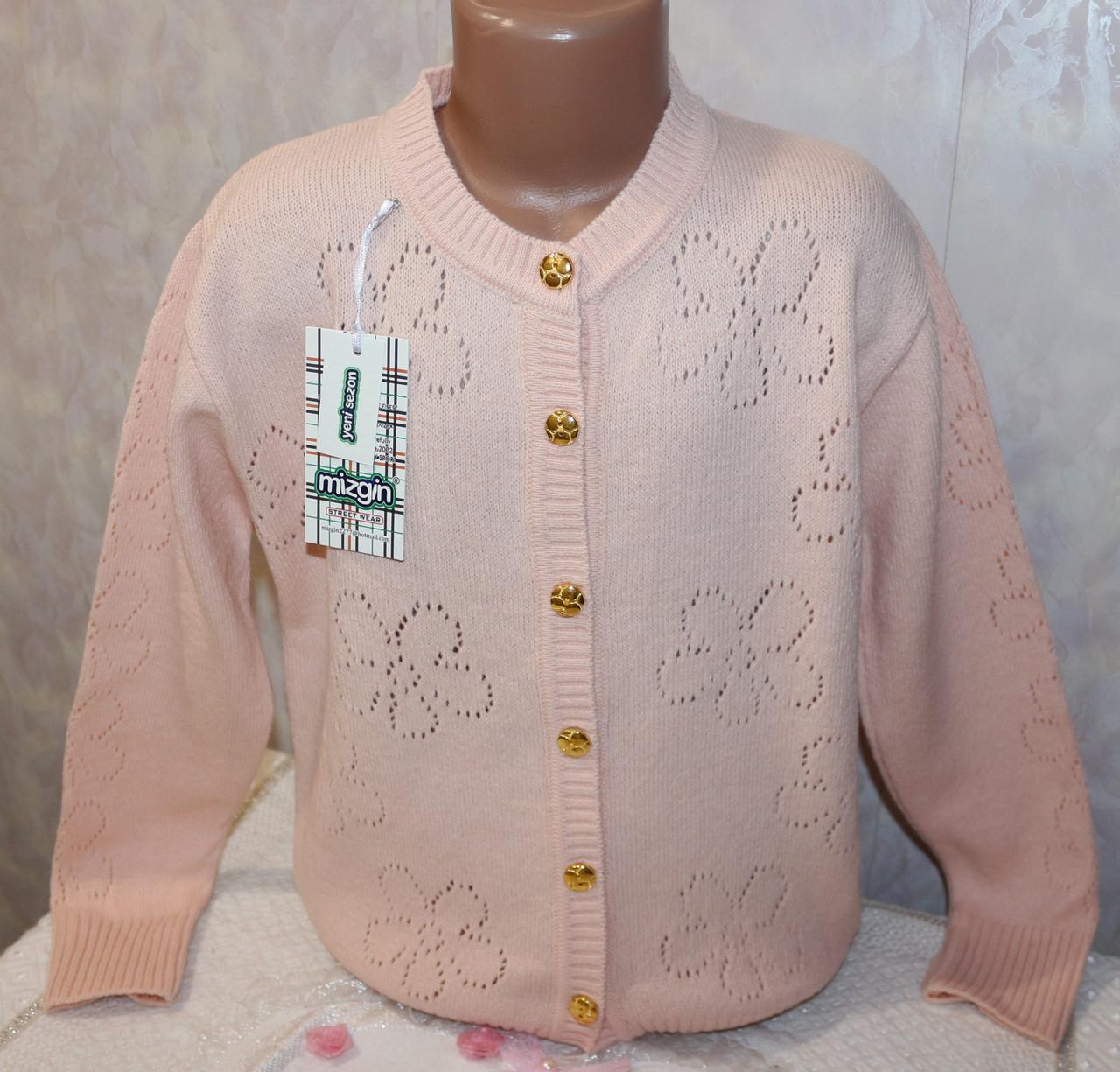 Вязанная кофта на девочку 9-10, 11-12, 13-14 лет