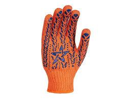 Перчатка Х/Б звезда оранжевая