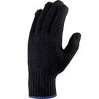 Перчатка Х/Б черная зимняя, фото 2