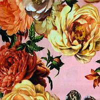 """Шелк набивной """"Армани"""" (P-5921 дизайн 1) Розовый"""