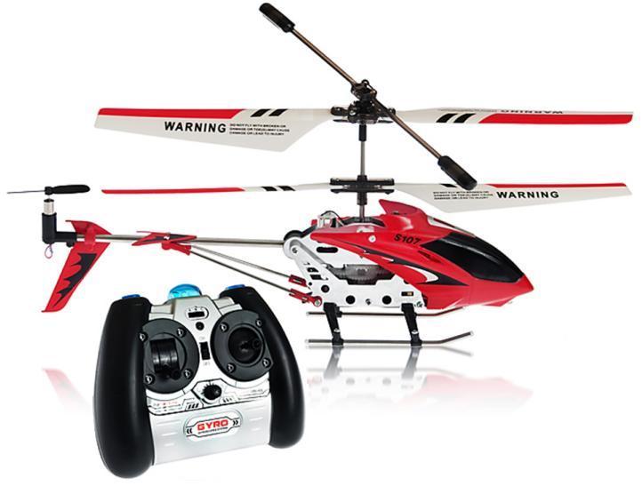 Вертолёт с 3-х канальным и/к управлением, светом и гироскопом (22 см) Syma (S107G) Red