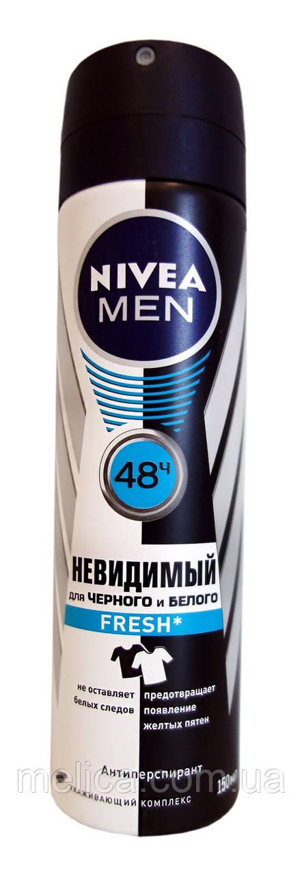Антиперспирант спрей Nivea Men Невидимый для черного и белого Fresh - 150 мл. - АВС Маркет в Мелитополе