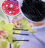 Невидимки для волос черные  5,5 см, уп 370 шт