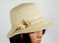 Шляпа летняя соломенная Котелок