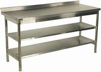 Стол разборный с двумя полками стандарт СП2П 600х600х850 (AISI304)